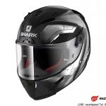 SHARK RACE-R PRO CARBON Deager / Carbon Chrom White/DUW