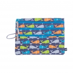 3 Zip Organizer Fun Love Whale Splash
