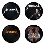 ของที่ระลึกวง Metallica เลือกด้านหลังได้ 4 แบบ เข็มกลัด, แม่เหล็ก, กระจกพกพา หรือ พวงกุญแจที่เปิดขวด 1 แพ็ค 4 ชิ้น [2]