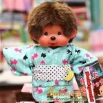 ตุ๊กตาลิงมอนจิจิชุดยูกาตะ ไซส์ S (20cm Yukata Dressed Monchhichi Boy)