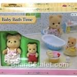 ซิลวาเนียน ชุดอาบน้ำเบบี้ Sylvanian Families Baby Bath Time