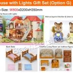 บ้านตุ๊กตาซิลวาเนียนพร้อมเฟอร์นิเจอร์ Sylvanian Families City House with Lights Gift Set G