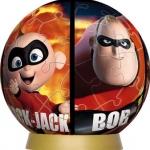 จิ๊กซอว์บอล เดอะอินเครดิเบิ้ลส์พร้อมกล่อง (The Incredibles 3D Jigsaw Puzzle)