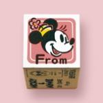 ตัวปั๊มฐานไม้รูปมินนี่ From (Minnie Mini Stamper DO-134AE)
