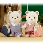 ซิลวาเนียน คู่แฝดนร.หมีขาว (JP) Sylvanian Families Polar Bear Exchange Student