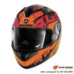 SHARK RIDILL KENGAL Mat black orange red
