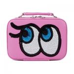 กระเป๋าเครื่องสำอาง big eyes mini สีชมพู