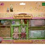ซิลวาเนียน เฟอร์นิเจอร์ห้องนอนของพี่สาวแมวและพี่ชายกระต่าย (EU) Sylvanian Families Children Room with Margot & Otto