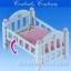 ซิลวาเนียน เตียงเบบี้สีขาว (EU) Sylvanian Families Baby Bed Set thumbnail 2