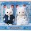 เบบี้กระต่ายช็อคโกแล็ตในชุดแต่งงาน (JP) Sylvanian Families Happy Wedding Set thumbnail 1