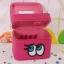 กระเป๋าเครื่องสำอาง big eyes double box สีบานเย็น thumbnail 2
