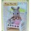 ซิลวาเนียน เตียงเบบี้สีขาว (EU) Sylvanian Families Baby Bed Set thumbnail 1