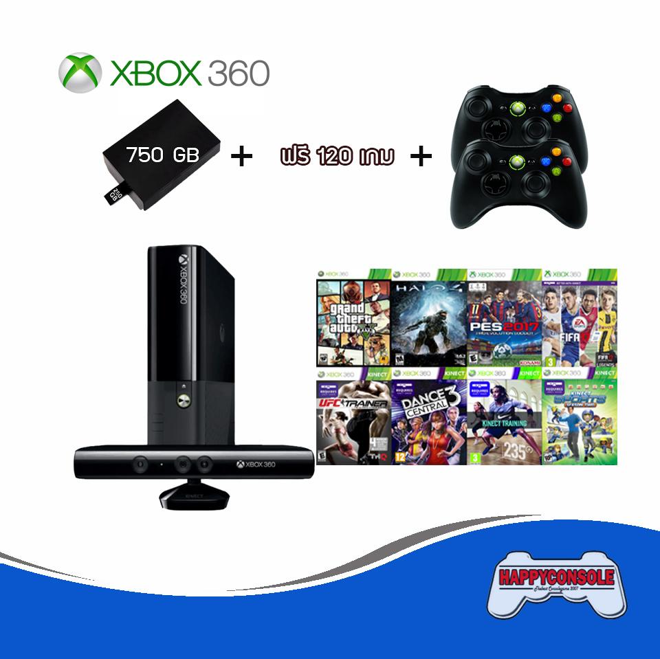 XBOX 2จอย + Internal 750GB + ฟรี 120 เกม
